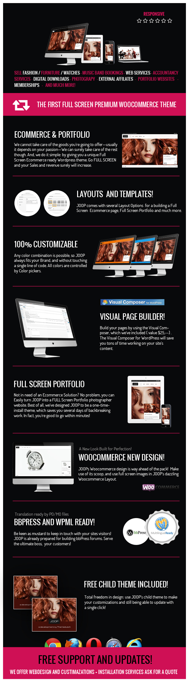 JOOP - Full Screen Woocommerce / Portfolio Theme