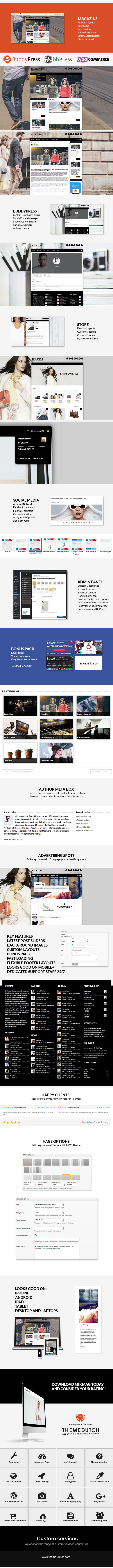 BuddyPress, Magazine and Store wp theme