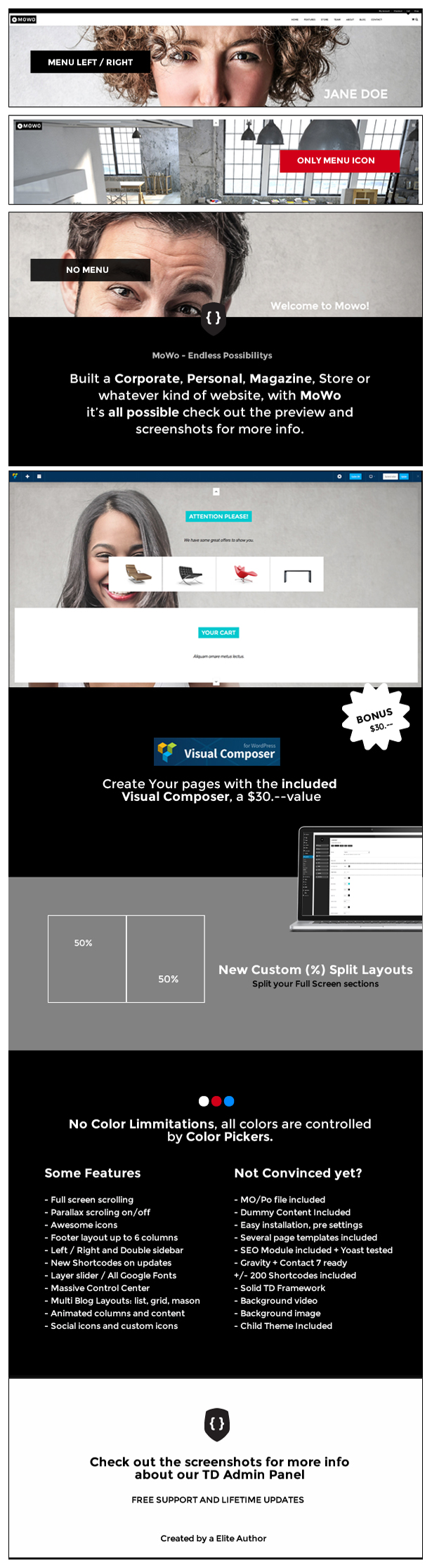 MoWo The Next Generation One / Multi Page WP Theme